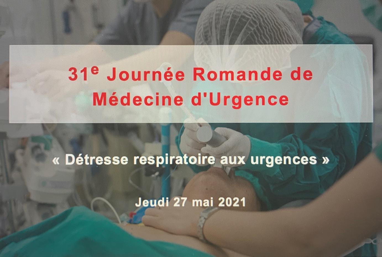 31ème journée Romande de Médecine d'Urgence